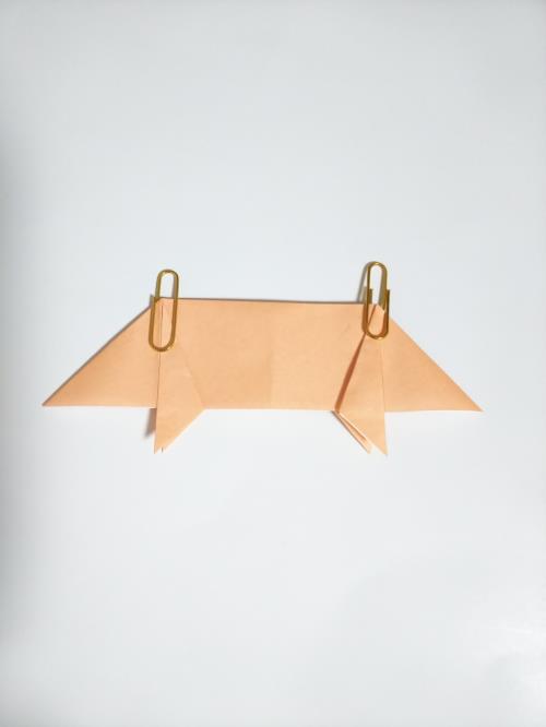折り紙でブタを折る折り方の手順画像