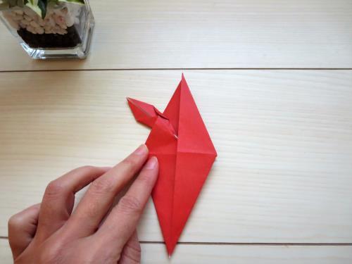 折り紙でピカチュウを折る折り方の手順画像