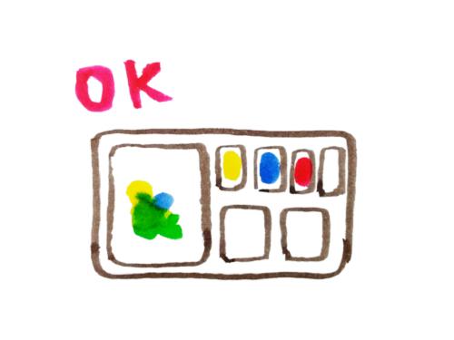 パレットの使い方OK例のイラスト