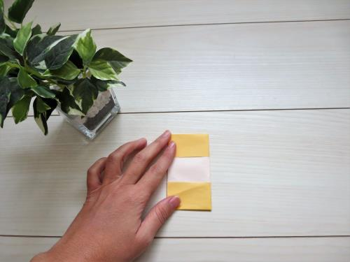 折り紙でケーキを作る折り方の手順画像
