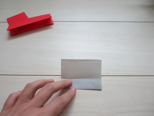 折り紙で消防車を折る手順の画像