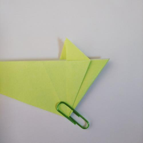 折り紙でねずみを折る折り方の手順画像