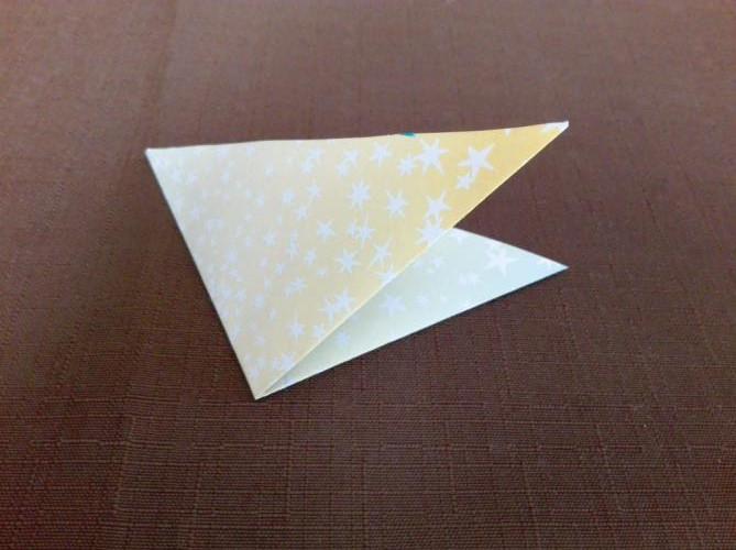 折り紙で風車を折る折り方の手順画像