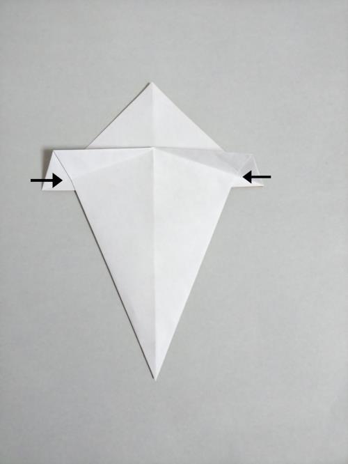 折り紙できのこを折る折り方の手順画像
