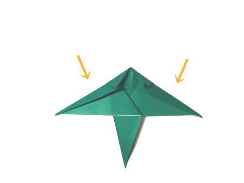 折り紙でパンダと笹を折る折り方の手順画像