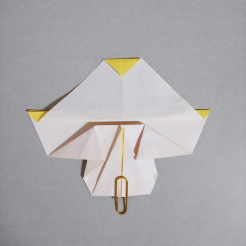 折り紙でプリンアラモードを折る折り方の手順画像