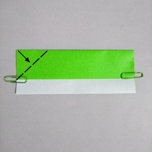 折り紙で新幹線を折る折り方の手順画像
