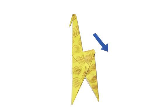 折り紙でキリンを折る折り方の手順画像