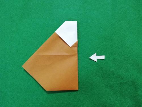 折り紙でゴリラを折る折り方の手順画像