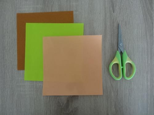 折り紙でハンバーガーを折る折り方の手順画像
