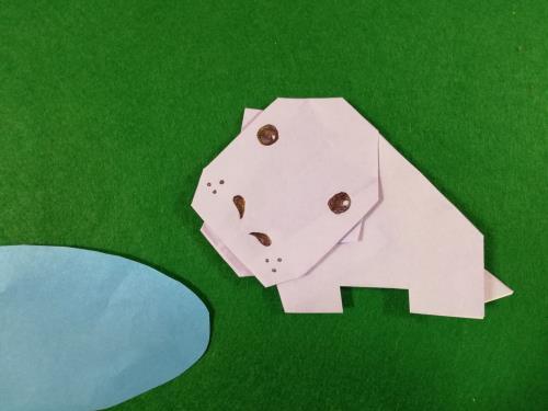 """折り紙でカバを折る折り方の手順画像"""" width="""