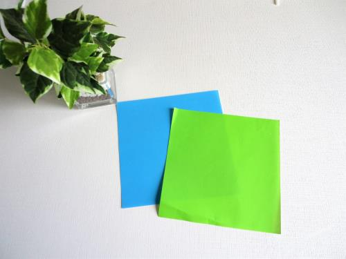 折り紙でペン立てを作る折り方の手順画像