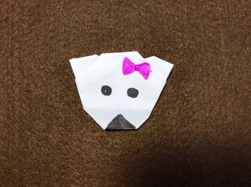 折り紙でしろくまを折る折り方の手順画像
