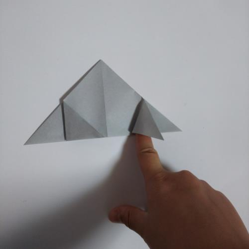 折り紙で宇宙船を折る折り方の手順画像
