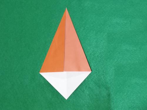 折り紙で猿を折る折り方の手順画像