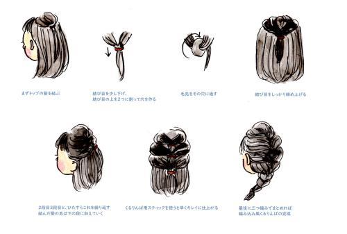 幼稚園に通う時におすすめの髪型のイラスト画像