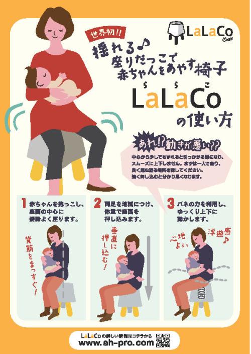 ララコチェアの使い方をイラストで示してある画像