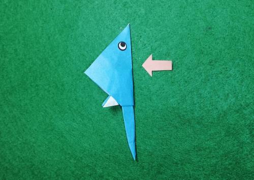折り紙でエイを折る折り方の手順画像