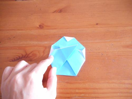 折り紙でかき氷を折る折り方の手順画像