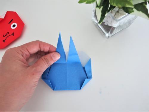 折り紙で鬼を折る折り方の手順画像