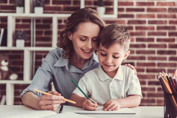通信教育をやり始めた子供