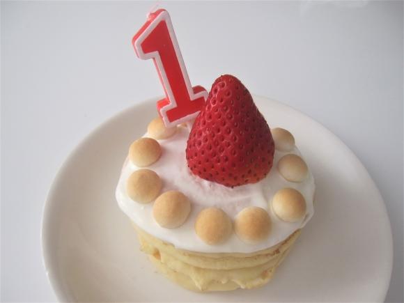 手作りの1歳お誕生日ケーキ