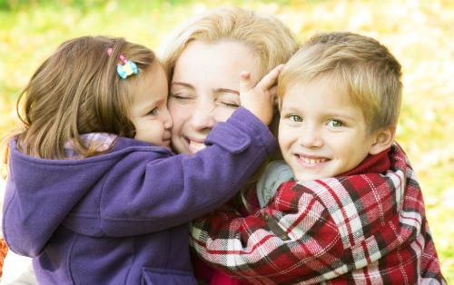 ママが子供に優しくなれると子供も優しくなれたという画像