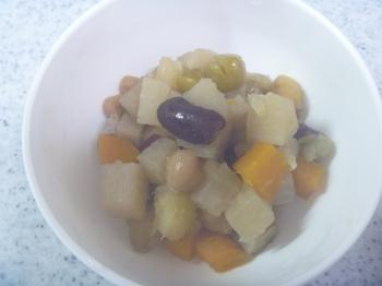 豆・根野菜・さつまいものほくほく煮