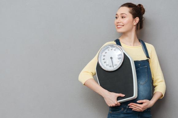 体重コントロールしている妊婦さん