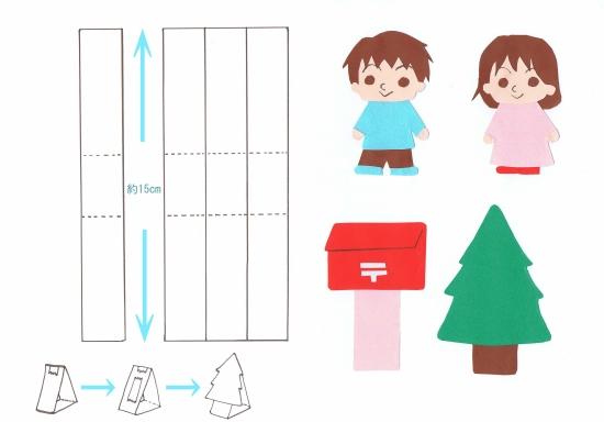 画用紙で作る家づくりの手順