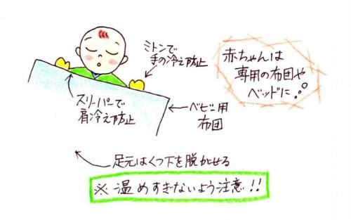 赤ちゃん寝具イラスト2