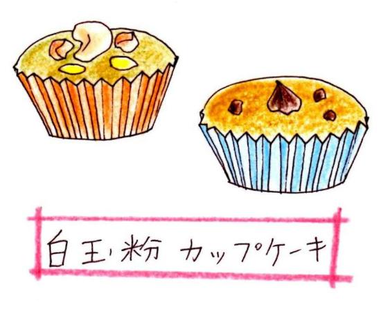白玉粉のカップケーキ64854