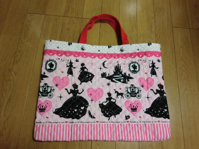 手作り園バッグの完成品