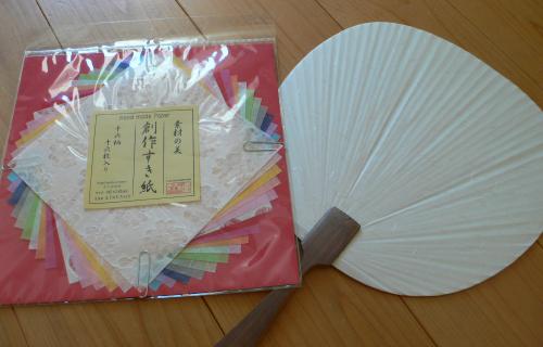 うちわを使った七夕飾りの作り方18753-7