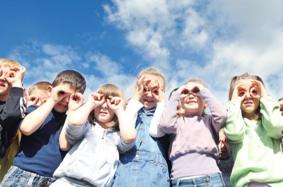 学童保育に通っている子供たち