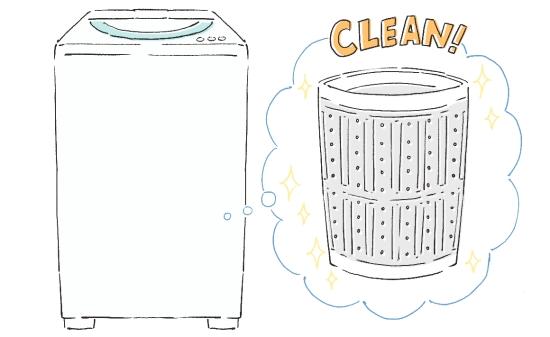 ベビー服を洗うなら槽内洗浄をしてから