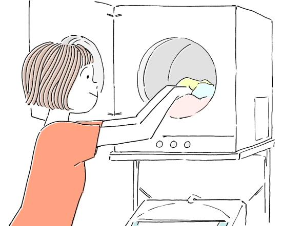 洗濯乾燥機を使う