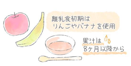 果汁は8ヶ月から
