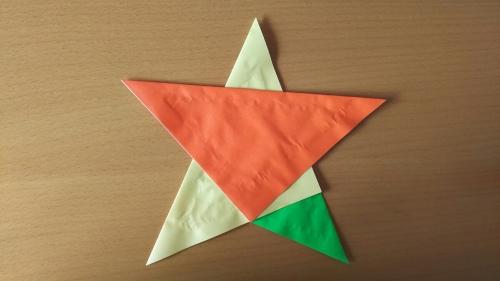 折り紙星の完成図