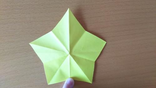 折り紙でお星さまBを折る手順の画像9