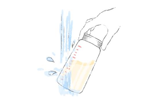 ミルクを素早く冷ます方法