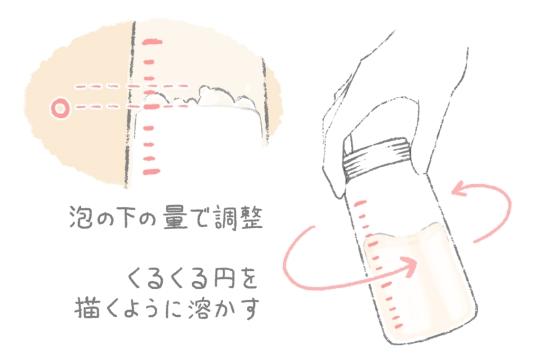 ミルクが溶け切らないときの対処方法