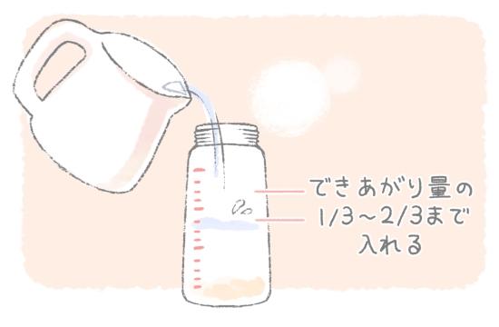 粉ミルクを作る時の基本