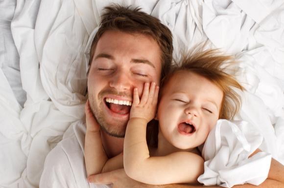 ストレスなく育児ができているパパ