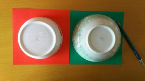 折り紙でスイカを作っている手順2