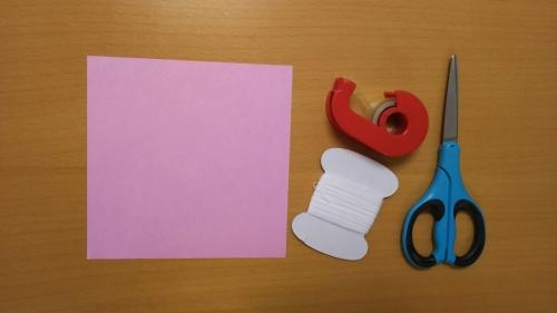 折り紙で短冊を作る手順1