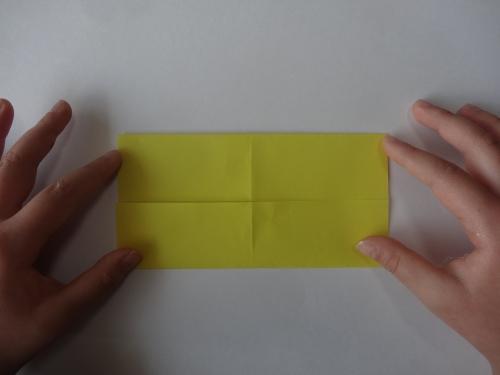 折り紙でお花を折る手順3
