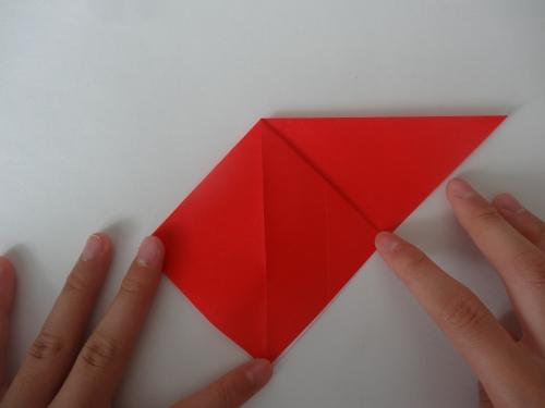 折り紙でバラを折る手順3