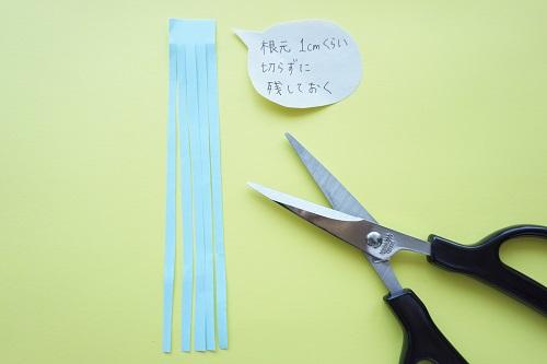 扇風機の手作り吹き流しの作り方手順の画像