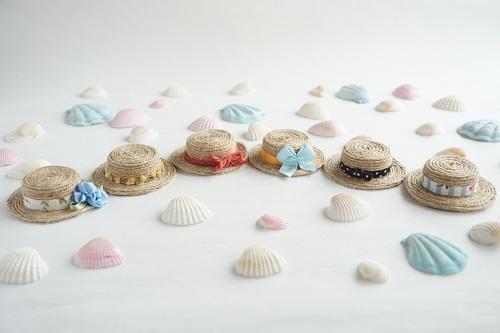 ペットボトルキャップで作る手作り麦わら帽子の完成画像